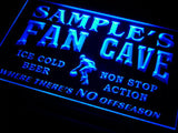 Basketball Fan Cave Name Personalized Custom LED Sign