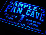 Name Personalized Custom Bar Soccer Football Fan Cave Man Beer LED Sign - FREE SHIPPING