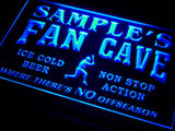 Baseball Fan Cave Name Personalized Custom LED Sign -  Blue - TheLedHeroes