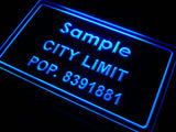 City Limit Name Personalized Custom LED Sign