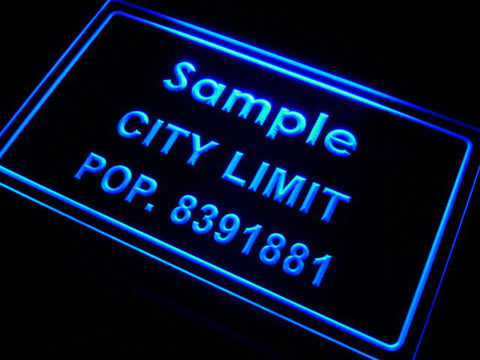 City Limit Name Personalized Custom LED Sign -  - TheLedHeroes