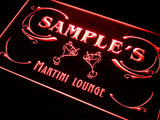 Martini Lounge Cocktails Name Personalized Custom LED Sign -  - TheLedHeroes