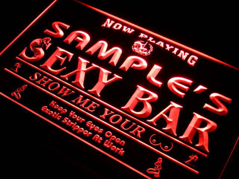 Sexy Bar Now Playing Name Personalized Custom LED Sign -  - TheLedHeroes