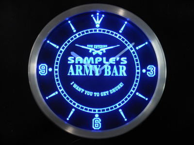 Army Man Cave Bar Beer Bar LED Wall Clock -  - TheLedHeroes