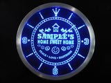 Home Sweet Home Scottie LED Wall Clock -  - TheLedHeroes