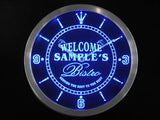 Bistro Welcome Beer Home Bar LED Wall Clock -  - TheLedHeroes