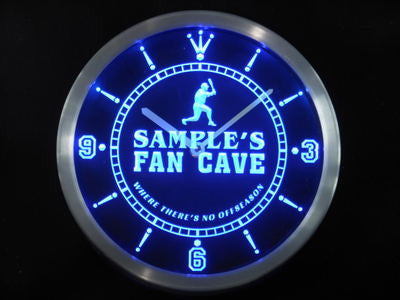 Baseball Fan Cave Man Room LED Wall Clock -  - TheLedHeroes