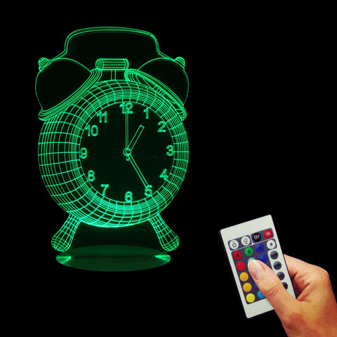 Alarm Clock 3D LED LAMP -  - TheLedHeroes