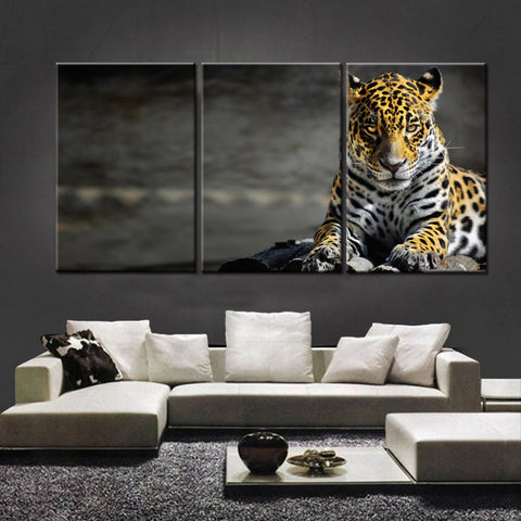 Leopard 3 Pcs Wall Canvas -  - TheLedHeroes