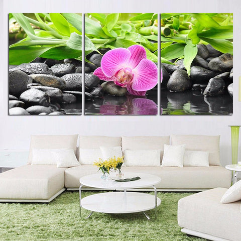 Pink Orchid 3 Pcs Wall Canvas -  - TheLedHeroes
