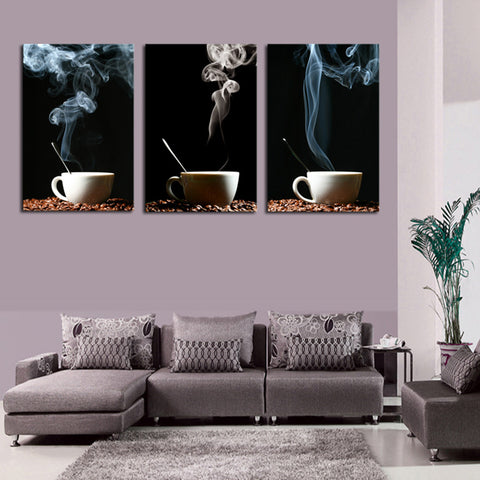 3 cups of tea 3 Pcs Wall Canvas -  - TheLedHeroes