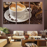 Coffee cup 3 Pcs Wall Canvas