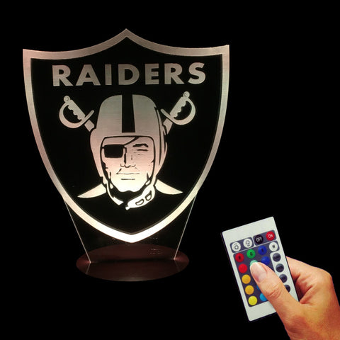 NFL Oakland Raiders 3D LED LAMP -  - TheLedHeroes