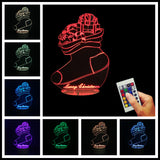Christmas Sock 3D LED LAMP -  - TheLedHeroes