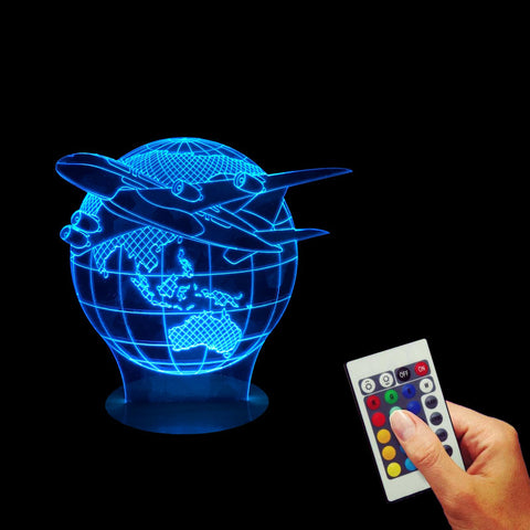 Aircraft Globe Earth 3D LED LAMP -  - TheLedHeroes