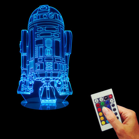 R2-D2 Episode 7 The Force Awakens 3D LED LAMP -  - TheLedHeroes