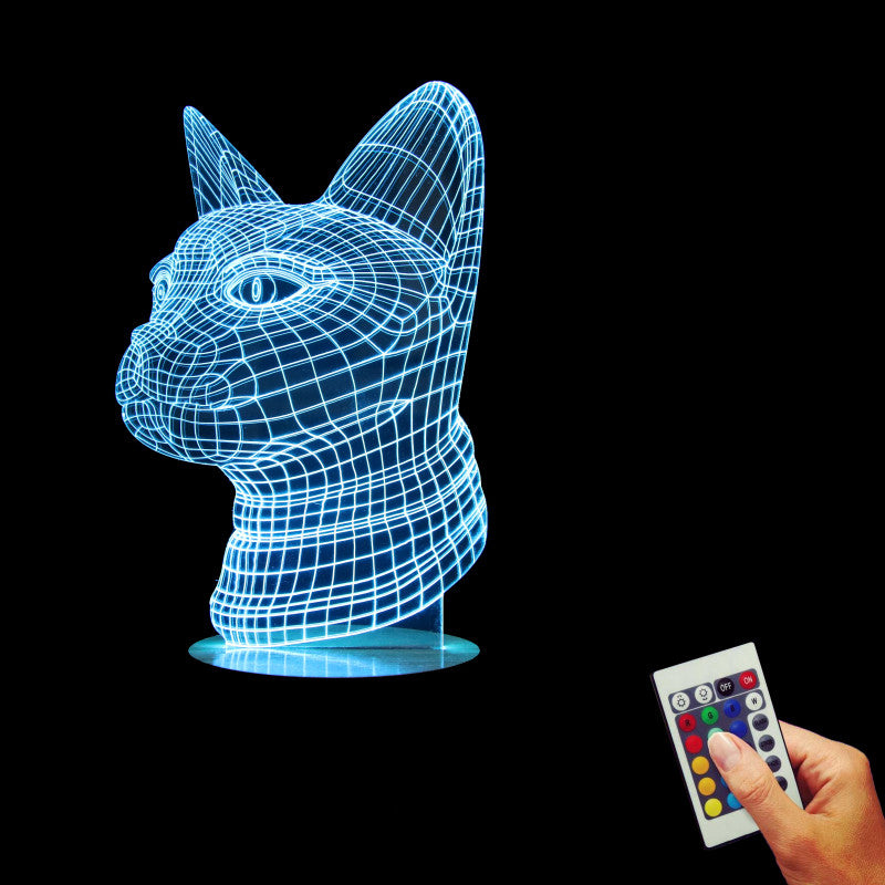 Cat Head 3D LED LAMP -  - TheLedHeroes