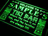 Tiki Bar Name Personalized Custom LED Sign - Green - TheLedHeroes