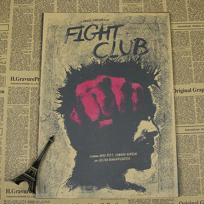 Retro Fight Club Poster - Black - TheLedHeroes
