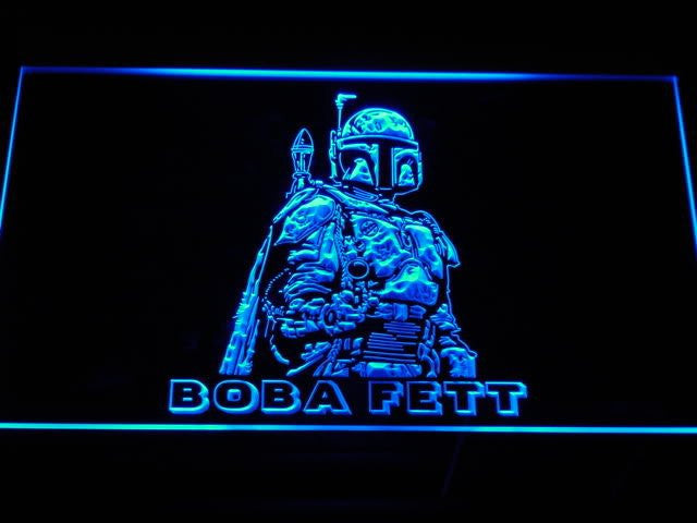 Star Wars Boba Fett LED Sign - Blue - TheLedHeroes