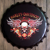 Harley Davidson 2 40x40 cm Bottle Cap Tin Sign -  - TheLedHeroes