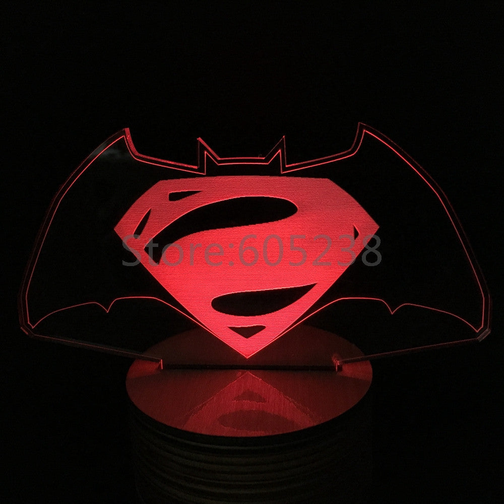 Batman v Superman 3D LED LAMP -  - TheLedHeroes
