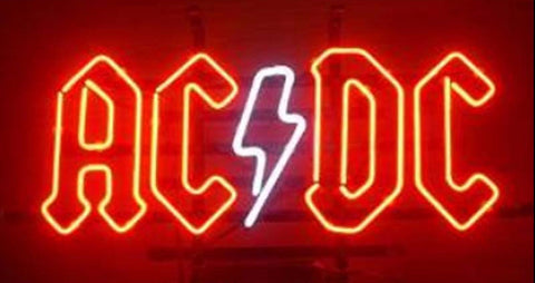 AC/DC Pinball Neon Bulbs Sign 17x14