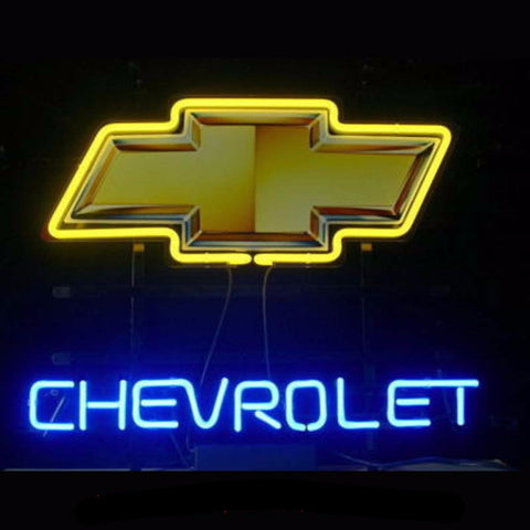 Chevrolet Bow Tie Car Neon Bulbs Sign 17x14 -  - TheLedHeroes