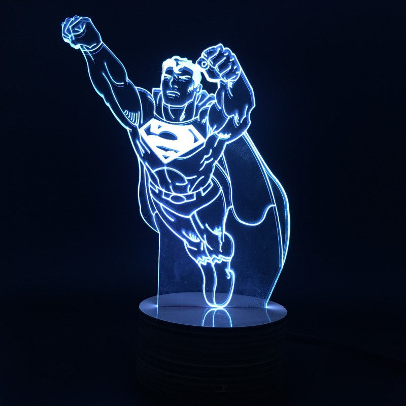 Superman Flying 3D LED LAMP -  - TheLedHeroes