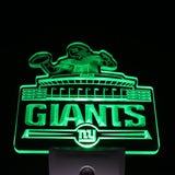 New York Giants Bar Logo Day/ Night Sensor Led Night Light Sign