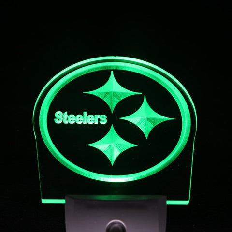 Pittsburgh Steelers Bar Club Day/ Night Sensor Led Night Light Sign