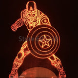 Captain America 3D LED LAMP -  - TheLedHeroes