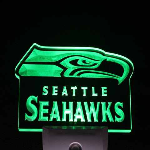 Seattle Seahawks Bar Pub Day/ Night Sensor Led Night Light Sign