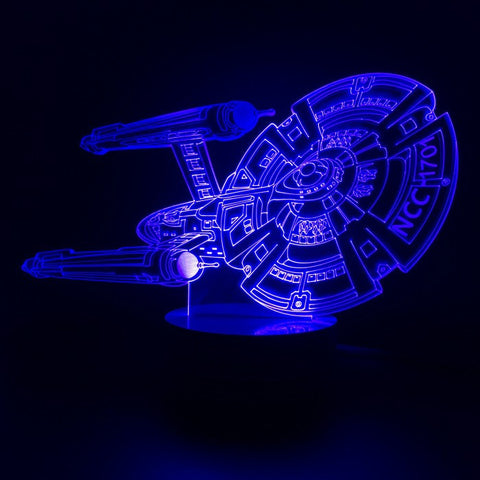Free Shipping 3D Design Bulbing Lamp Star Trek Color Changing LED Desk Lamp