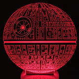 Free Shipping The Force Awakens Death Star Color Changing Table Lamp 3D USB Bulbing Light