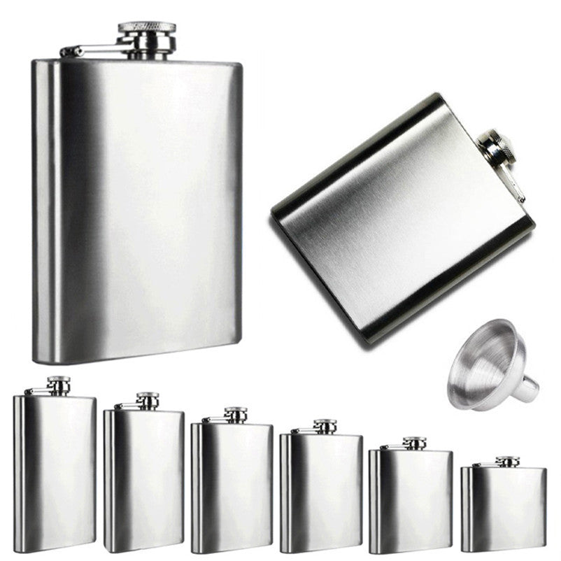 Stainless Steel Pocket Flask Retro -  - TheLedHeroes