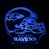 Baltimore Ravens Helmet Day/ Night Sensor Led Night Light Sign