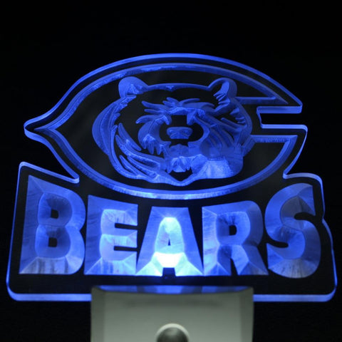 Chicago Bears Bar Beer Pub Day/ Night Sensor Led Night Light Sign