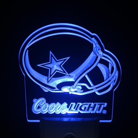 Dallas Cowboys Helmet Coors Day/ Night Sensor Led Night Light Sign