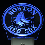 Boston Red Sox Baseball Bar Day/ Night Sensor Led Night Light Sign
