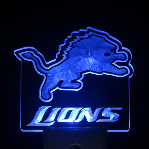Detroit Lions Day/ Night Sensor Led Night Light Sign