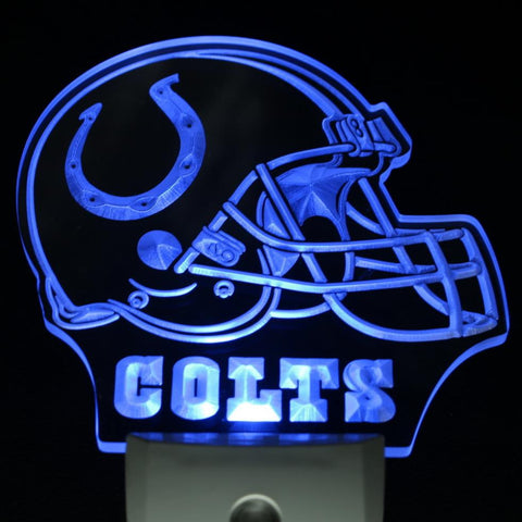 Indianapolis Colts Helmet Day/ Night Sensor Led Night Light Sign