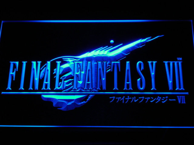 Final Fantasy VII LED Sign - Blue - TheLedHeroes