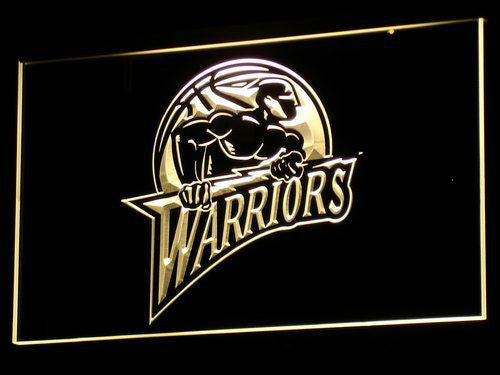 Golden State Warriors Old Logo LED Sign - Yellow - TheLedHeroes