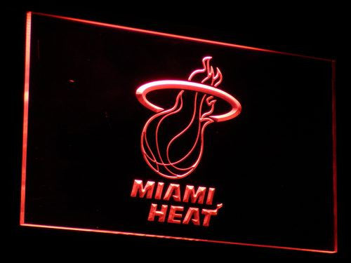 Miami Heat LED Sign - Red - TheLedHeroes