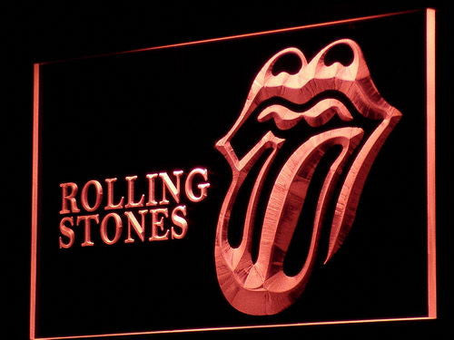 Rolling Stones VIP LED Neon Sign with On/Off Switch 7 Colors to choose