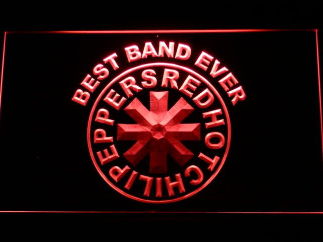 Red hot Chili Best Band Ever peppers LED Sign - Red - TheLedHeroes