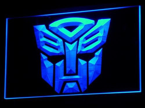 Transformers LED Neon Sign with On/Off Switch 7 Colors to choose