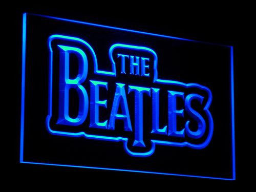 The Beatles Band Music Logo Bar LED Sign - Blue - TheLedHeroes