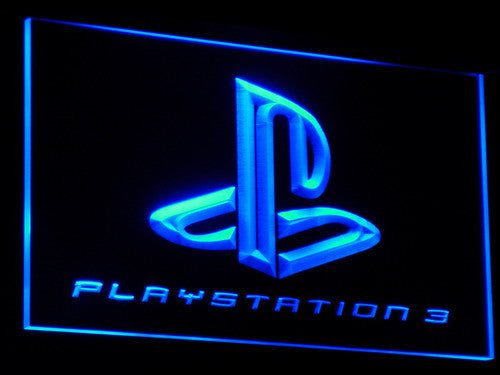 Playstation 3 Game Room Bar Beer LED Sign - Blue - TheLedHeroes